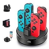 Opard Ladestation für Nintendo Switch Controller 4 in 1 Joy-Con Ladestation/Pro Controller...