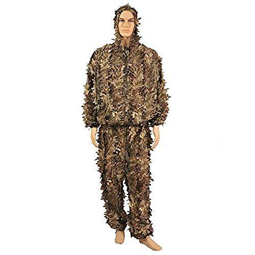 Ghillie passt Jagd Camouflage 3D Hood Jungle Schlangenleder Blätter Jagd Sniper Umhang Military Kleidung für Shooting Airsoft Wildlife Fotografie oder Halloween