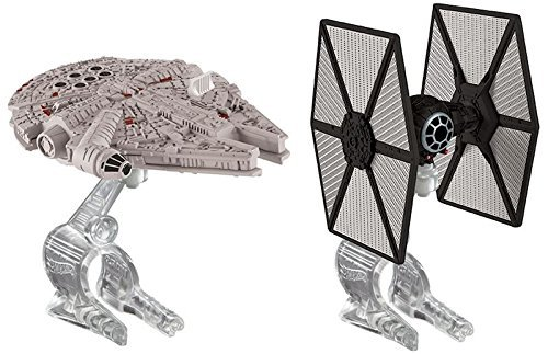 Hot Wheels Star Wars Starships - TIE Fighter vs. Millennium Falcon by Hot Wheels