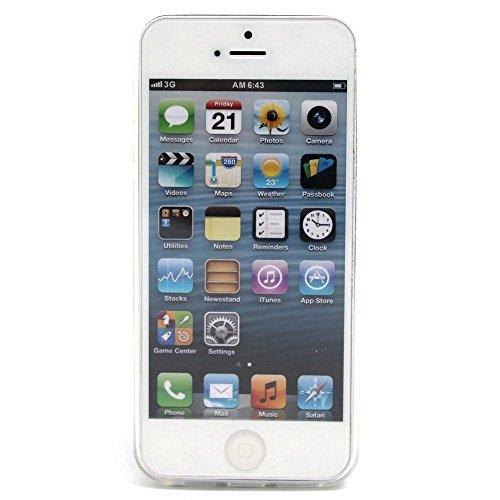 TPU Cuir Coque Strass Case Etui Coque étui de portefeuille protection Coque Case Cas Cuir Swag Pour iPhone 5 / 5s / SE +Bouchons de poussière (R5) 7