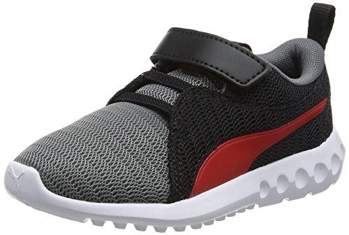 Puma Unisex-Kinder Carson 2 V PS Sneaker, Mehrfarbig (Quiet Shade-Flame Scarlet), 32 EU (Scarlet Mesh)