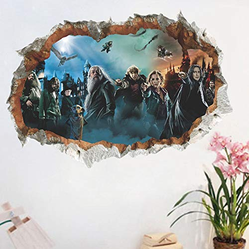 XIONGXI Decoración habitación 3D Agujero Pared Cartel