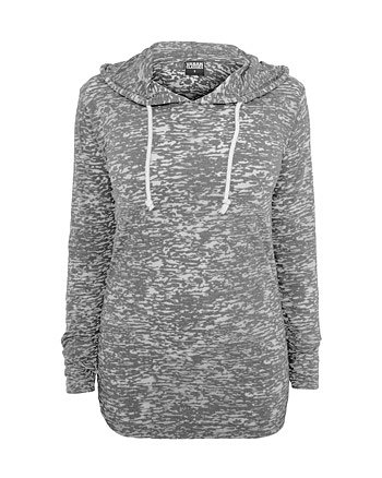 Urban Classics Damen Hoody Ladies Melange Burnout Loose grau grau XL