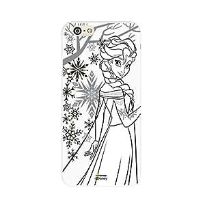 Hamee Disney Princess Frozen Official Licensed Designer Cover Hard Back Case for Sony Xperia XA Dual (Elsa / Outline)