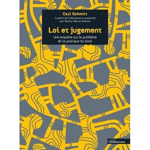 Loi et jugement : Une enquête sur le problème de la pratique du droit