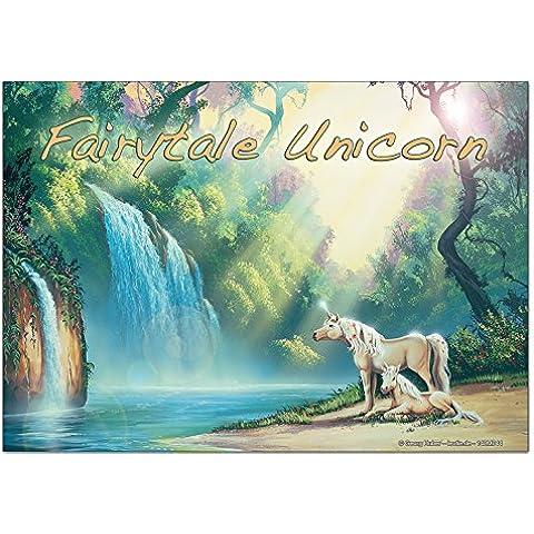 Magneti Calamite frigorifero Racconto G. Huber fairytale Unicorn