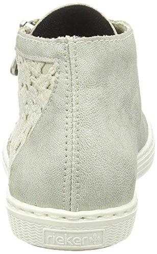 Rieker L0912, Sneakers Hautes Femme Gris (Frost/Beige / 40)