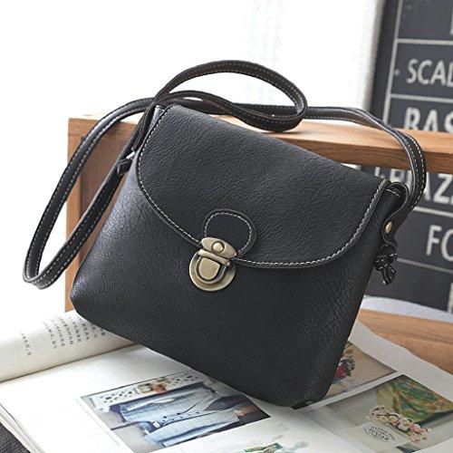 2017 Borse donna,Kangrunmy®Donne borsa di cuoio di signora Satchel Handbag Borsa a tracolla Tote Nero