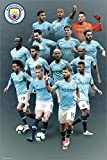Laminiert Manchester City Players 18-19 Maxi Poster 61 x 91,5 cm