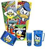 Donald Duck Summer Package: 2x DVD, 1x Brotdose, 1x Saftkrug mit 4 Bechern, 2x Strandtücher
