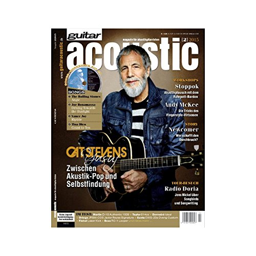 guitar acoustic 2 2015 mit CD - Cat Stevens Yusuf - Interviews - Akustikgitarre Workshops - Akustikgitarre Playalongs - Akustikgitarre Test und Technik - Akustikgitarre Noten