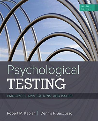 Testing & Measurement Psychological Methodology