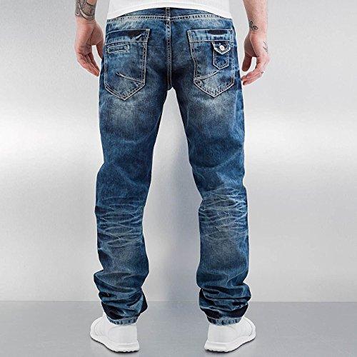 Cipo & Baxx Herren Jeans / Straight Fit Jeans Stevenage Blau