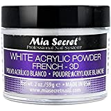 Mia Secret acrílico Nail Art polvo, 60 ml, color blanco