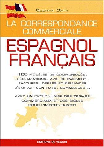 Correspondance commerciale, espagnol-français