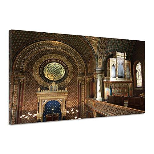 Synagoge Prag Jüdische Gemeinschaft Judentum Leinwand Poster Druck bild vk0471 160x120