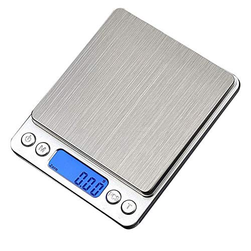 Aingol Échelle de Cuisine numérique, 3kg/0.1 g Mini Poche Bijoux échelle, Cuisine Alimentaire échelle avec écran LCD rétroéclairé