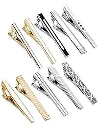 PiercingJ - 10PCS Mixtes Epingle Pinces a Cravate Poignet Slim Skinny Col Manchette Chemise Clip Tie Acier Inoxydable Delicat Elegant Business Homme avec Cadeau Boite