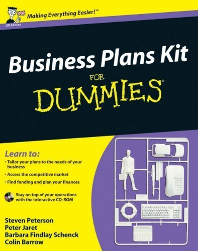 Business Plans Kit For Dummies (UK Edition) by Peterson, Steven D., Jaret, Peter E., Schenck, Barbara Findl (2009) Paperback