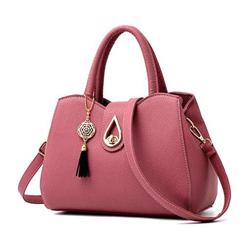 Tasche, Voberry Mode Frauen lichee Muster Crossbody Tasche Umhängetasche Tasche Messenger Bag Wassermelone Rot