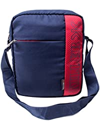 KILLER Polyester Navy Blue & Red Messenger Bag For Unisex