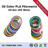 TIANLIANG04 20 Farbe festgelegt wird (jede Farbe ist 5 Meter) 3D Drucker Pen Filament PLA 1,75 mm Kunststoff Gummi Verbrauchsmaterial Material 3d-pen Filamente