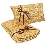Sigel PB006/5 große Pillowboxen 35 x 19 x 6 cm, 5er Set, mit Geschenkband und Anhänger