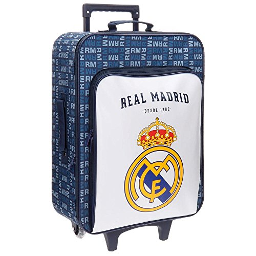Real Madrid 5649053 Basic Equipaje Infantil, 52 cm, 26 Litros, Multicolor