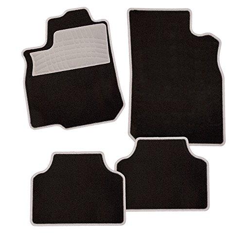 carfashion-colori-grau-c03-auto-fussmatte-in-schwarz-vorne-und-hinten-ohne-mattenhalter-fur-lada-ves