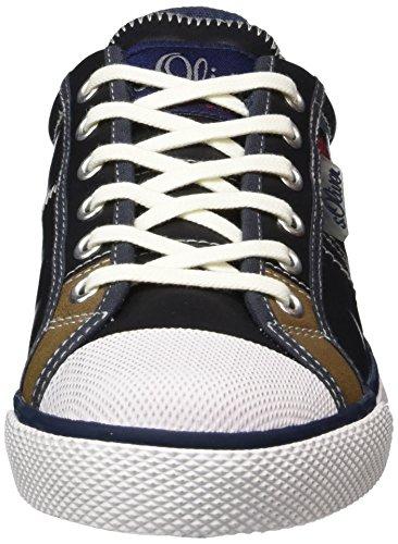 s.Oliver 53103, Sneakers Basses Garçon Bleu (Navy 805)