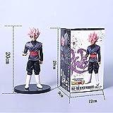 QingShunBeiJing Dragon Ball Z Big Size Rose Son Goku Vegeta Fusion Figura de acción DBZ Black Gogeta Son Goku PVC Pink Hair 20cm
