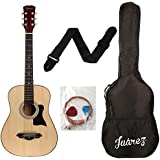 Juârez Acoustic Guitar Kit, 38 Inch JRZ38 with Bag, Strings, Pick and Strap, Natural