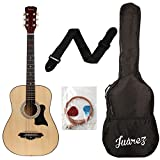 JUAREZ JRZ38C Right Handed Acoustic Guitar with Bag, Strings, Pick and Strap