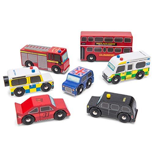 Le Toy Van 7 TLG. London Auto Set aus Holz