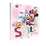 Fertig Zum Aufhängen auf Leinwand–Disney Daisy Duck Minnie Maus Take Selfie Foto 'Smile'–XXL–99,1x 74,9cm (100x 75cm)–Rosa Bild Panel