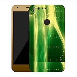 Snoogg green crystal in the grid 2638 Designer Protective Back Case Cover For Google Pixel XL