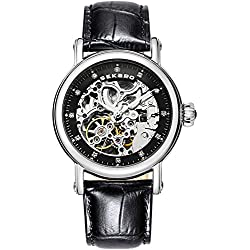 Automatic mechanical watches/ strap waterproof watch/Fashion cut watch-D