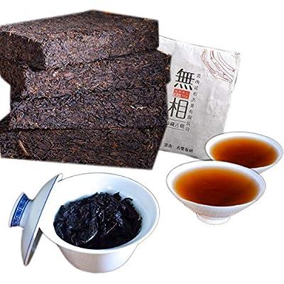 Thé Pu'er chinois 250g ?0.55LB? Thé Puer mûr Thé noir Yunnan Collecte de briques anciennes de thé Thé Pu'er Ancien thé Pu-erh Thé cuit Vieux arbres Pu pu thé