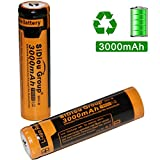 Sidiou Group 18650 Lithium Ion Battery Protected 3.7V 3000mAh Rechargeable Battery for LED flashlight torch (A Set of 2 Pieces)