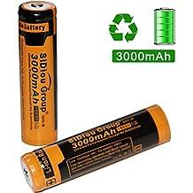 Sidiou Group 18650 Batteria agli ioni di litio 3.7V 3000mAh Batteria ricaricabile per la torcia della torcia a LED