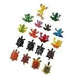 Blesiya 18 Piezas Modelo de Animal de Plástico Forma Reslista Juguete Divertido para Niños Multicolor