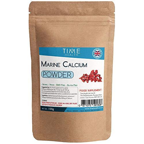 Marine Calcium and Trace Minerals Powder From Lithothamnium calcareum (100 g Pulver pro Beutel) -