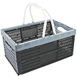 com-four® folding box with handles, folding shopping basket, 16 liters, 40 x 26 x 20 cm