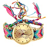 Best Geneva looking watch - Handmade Braided Dreamcatcher Friendship Bracelet Watch Rope GENEVA Review