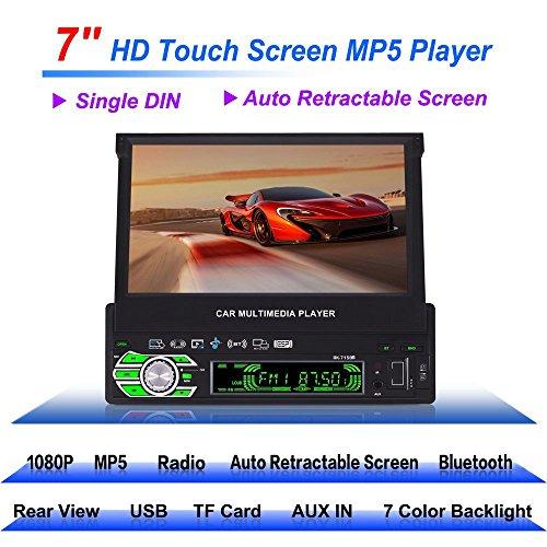 Reakosound 7 pollici MP5 giocatore 7158B per auto con schermata ritrattabile automatica e funzione Bluetooth