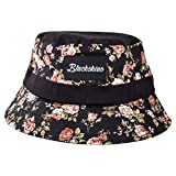 Blackskies Black Beauty Bucket Hat Unisex Sonnenhut Fischerhut Schwarz mit Rosen