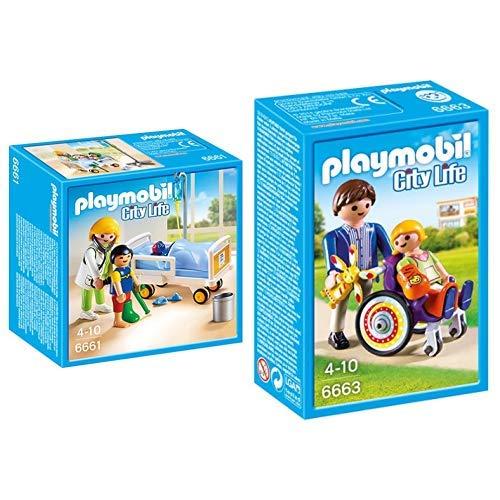 Playmobil 6661 - Ärztin am Kinderkrankenbett &  6663 - Kind im Rollstuhl