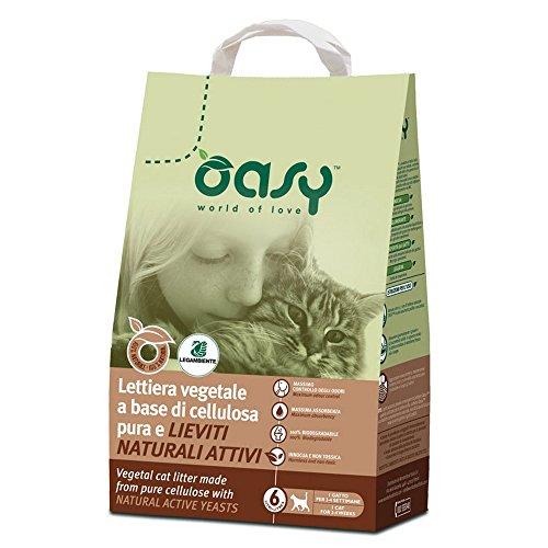 OASY Lettiera vegetale con base cellulosa pura lt. 6 - Sabbie per gatti