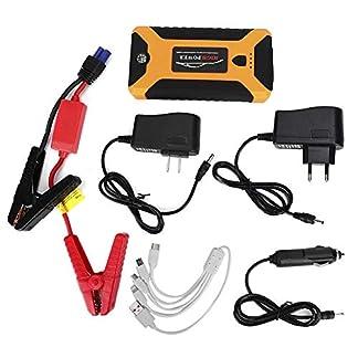 Akozon Car Jump Starter, Automotive Fuente de alimentación de Arranque de Emergencia 12V 20,000mAh Lámpara Cargador de portátil 110-240V(EU)