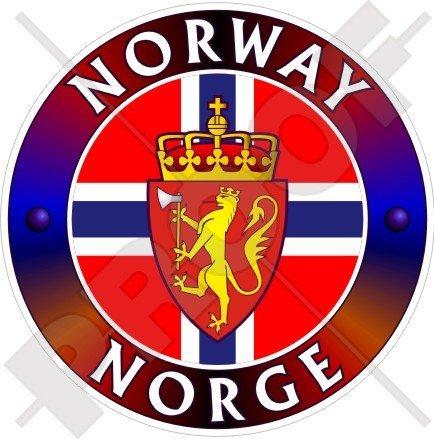 Norwegen Norge Kongeriket Noreg Norwegisch, 100mm (10,2cm) Vinyl Bumper Aufkleber, Aufkleber -